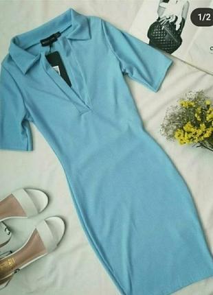 Платье в рубчик, сукня