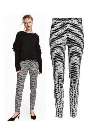 Стрейчевые брюки в принт