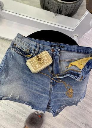 Шикарные голубые джинсовые шорты zara