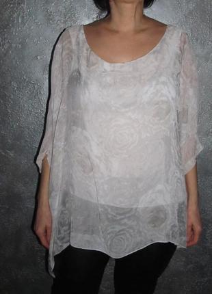 Шелковая блуза италия р. 50-52