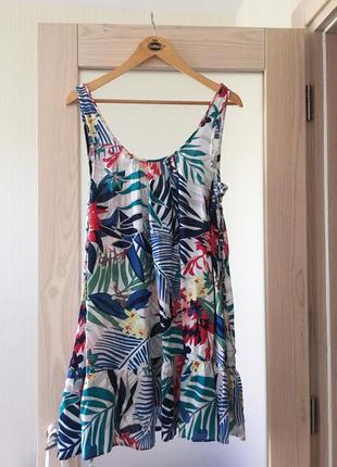 Стильный натуральный сарафан платье люксовый бренд roxy