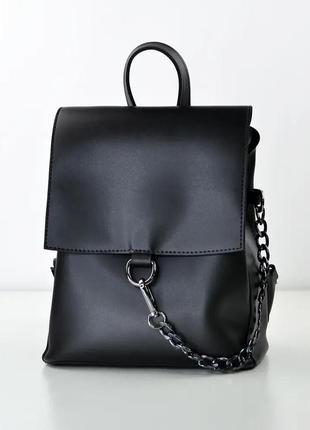 Рюкзак чорний жіночий