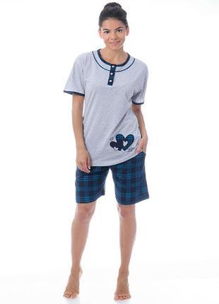Уютный домашний костюм пижама xl,2xl,3xl