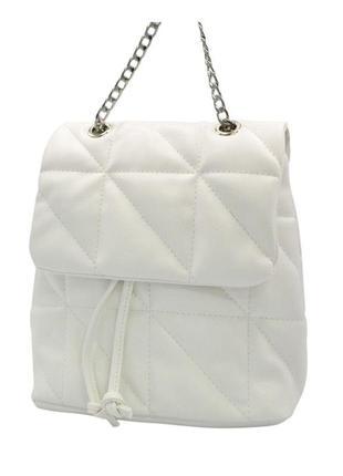 Сумка-рюкзак білий жіночий