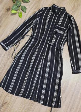 Платье-рубашка под пояс, длина 96, размер 34-36