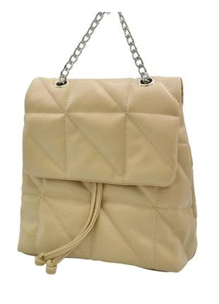 Сумка-рюкзак бежевий жіночий