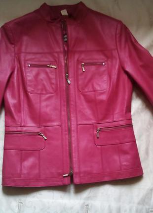 Натуральная телячья кожа, куртка мото, два цвета, новая