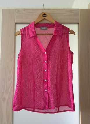 Натуральная яркая блуза рубашка футболка стильный принт wallis