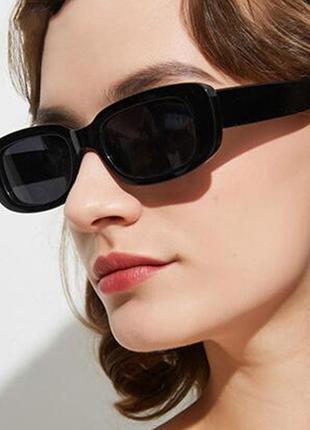 Винтажные модные квадратные солнечные очки окуляри в стиле ретро 2021