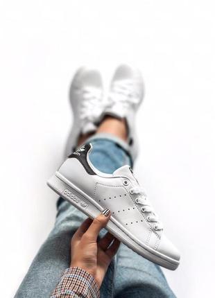 Стильные женские кеды adidas stan smith белые