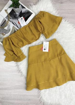 Лётный яркий набор топ и юбка