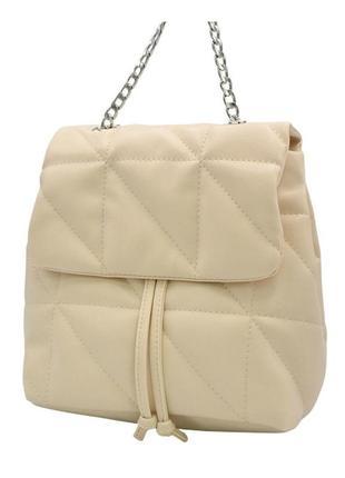 Сумка-рюкзак жіночий беж