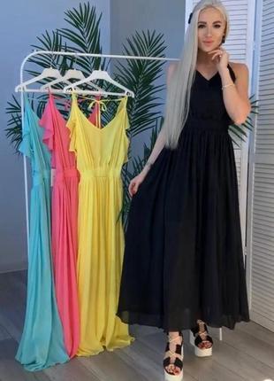 Невероятно лёгкое,из струящего шифона платье