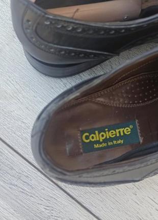 Calpierre мужские кожаные туфли броги оригинал 43-44 размер италия6 фото