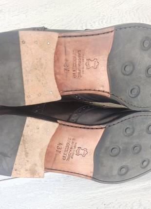 Calpierre мужские кожаные туфли броги оригинал 43-44 размер италия5 фото