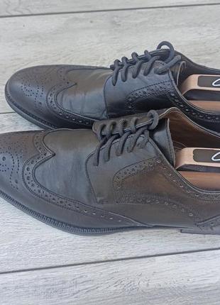 Calpierre мужские кожаные туфли броги оригинал 43-44 размер италия4 фото