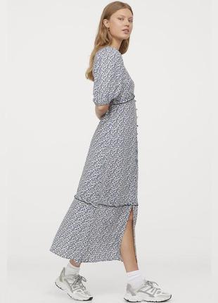 Шикарное вискозное макси платье в цветочный принт h&m  42/48