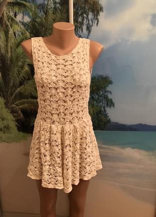 Плаття мереживне,ажурное платье 100% котон