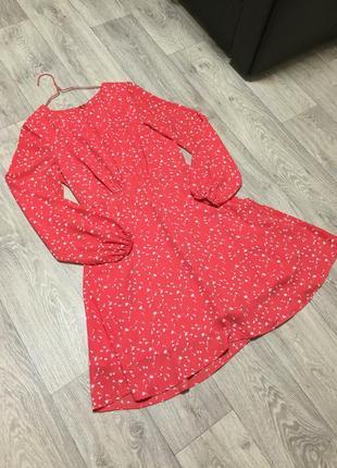 Платье с длинными рукавами gap в цветочный принт лёгкое