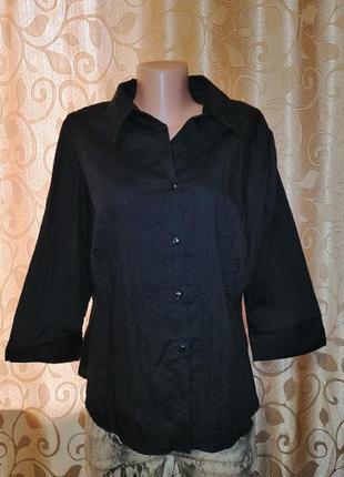 🌺🎀🌺стильная женская черная блузка, рубашка 20 размера dorothy perkins🔥🔥🔥