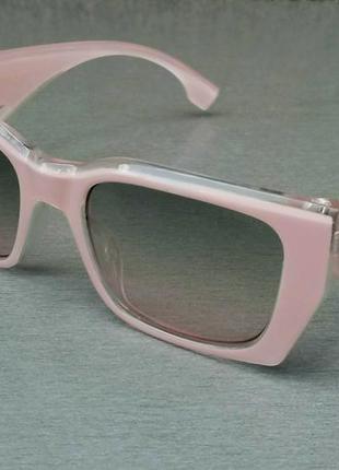 Burberry стильные женские солнцезащитные очки розово пудровые