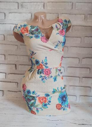 Летнее короткое платье стрейчевое, сарафан