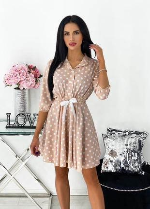 Короткое платье. платье в горошек летнее легкое