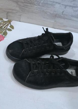 Кроссовки чёрные с шерстью adidas
