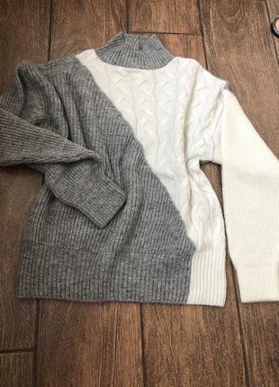 Новый с бирками свитер джемпер с косичками реглан кофта гольф