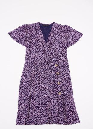 Сукня next з в-вирізом в квітковий принт з боковими гудзиками