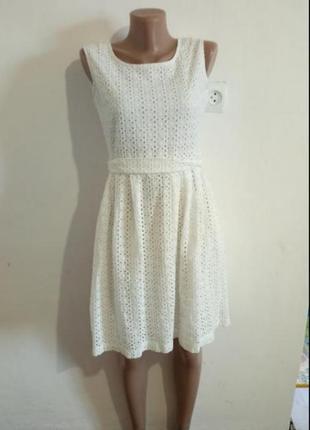 Біле ажурне плаття(белое ажурное платье)