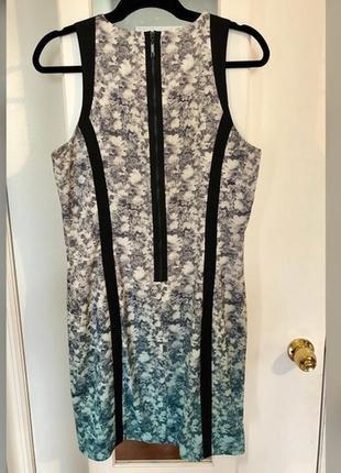 Платье h&m омбре с цветочным принтом