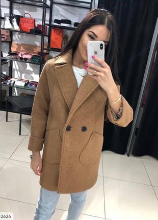 Коричневое кашемировое пальто