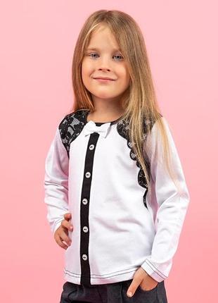 Блуза для дівчаток, біла