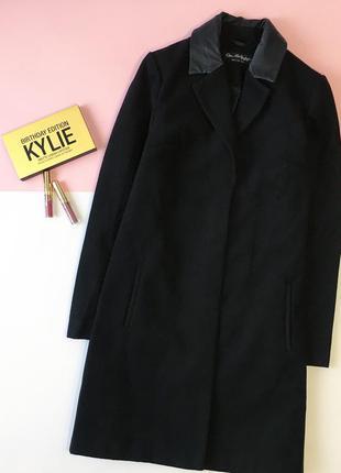 Стильное осеннее пальто с эко-воротником