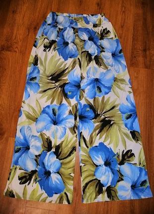 🌺🎀🌺стильные, яркие женские легкие брюки, штаны, кюлоты high & rose🔥🔥🔥