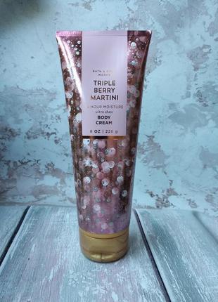 Парфюмований крем для тіла bath body works triple berry martini