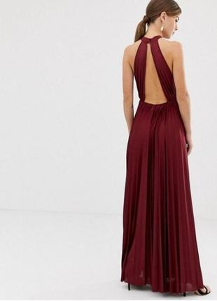 Платье в пол с открытой спинкой asos