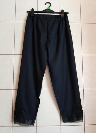 Легчайшие черные брюки из тонкого хлопка
