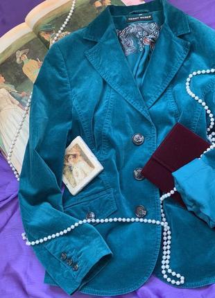 Велюровый  пиджак от gerry weber🇩🇪💚