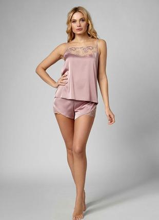 Женская пижама атлас кружево