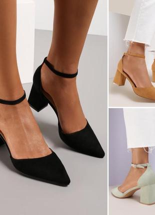 Замшевые туфельки на квадратном каблуке франция 🇫🇷
