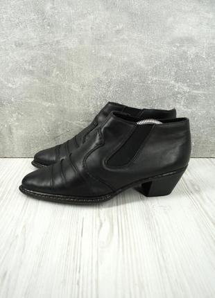 """Стильные брендовые кожаные туфли, ботильоны """"rieker"""". размер uk 6/eur 39."""