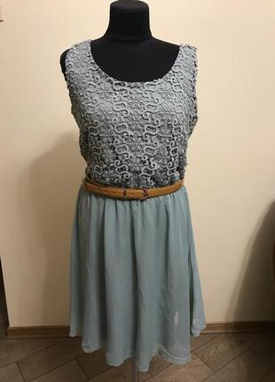 Платье  миди шифоновое