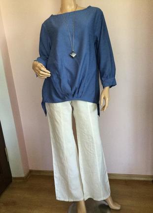 Бутиковая итальянская блузка- бохо- оверсайз