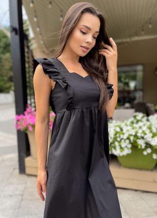 Жіноча чорна сукня. женское чёрная платье