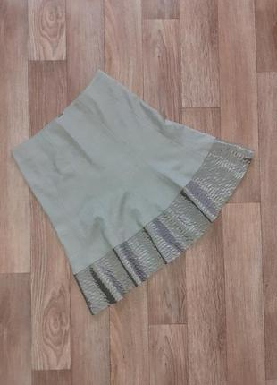 Akris punto базовая шерстяная юбка миди /размер м