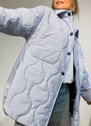Это супер новинка мировой хит❤️ стеганная куртка-рубашка на подкладке