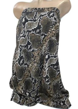 👛super sale -50%👛100% вискоза юбка в змеиный принт легкая