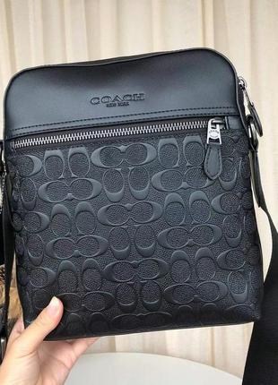 Мужская сумка через плечо coach f73338